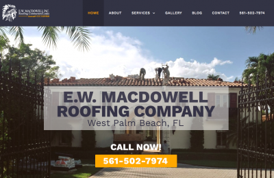 MacDowell Roofing Website